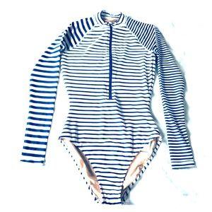 J Crew One Piece Long Sleeve Swimsuit